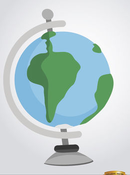 Desktop earth globe cartoon - Free vector #180837