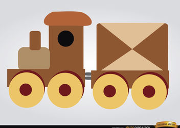 Wooden train children toy - vector gratuit #180847