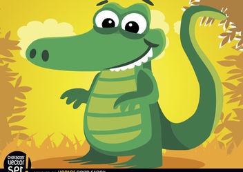 Crocodile animal in jungle - Free vector #180897