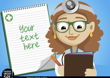 Female doctor writing medical prescription - vector #180967 gratis