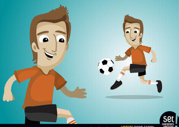Soccer Player Character - Free vector #181127