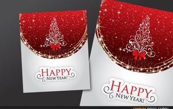 Happy new year greeting card - vector gratuit #181157