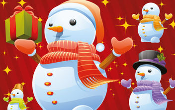 Free Snowman Vectors - Kostenloses vector #181227