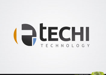 T Circle Typographic Technology Logo - Free vector #181377