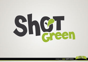 Shot green drink logo - Free vector #181397