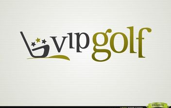 VIP Golf Logo Sport Logo - Free vector #181427