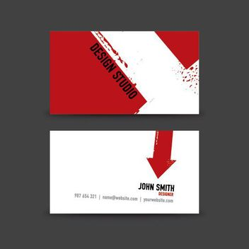 Arrow Prints Minimal Business Card - vector gratuit #181507