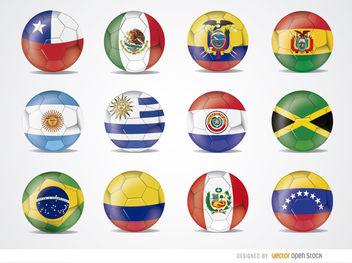 Copa America 2015 team flag balls - Free vector #181607