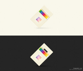 Color Pencil Icon with Packet - Free vector #181737