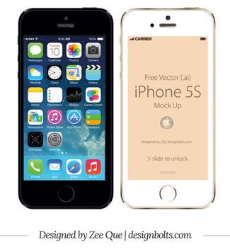 Apple iPhone 5S Front Mockup - Free vector #181857