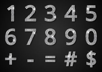 Glossy Diamond Numerical Typeface - Free vector #181977