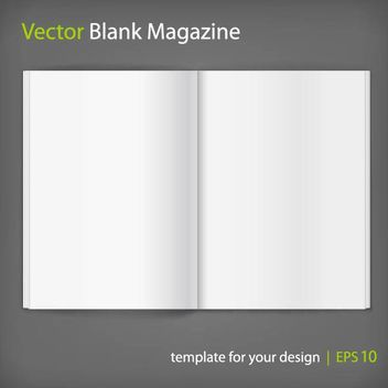 Blank Opened Magazine Layout - бесплатный vector #182047
