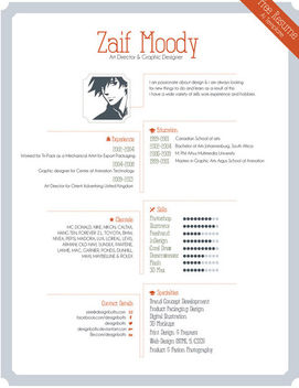 Graphic Artist Pro Resume Template - vector gratuit #182077