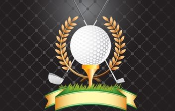 GOLF, GOLF CLUBS, WHEAT VECTOR - vector gratuit #182177