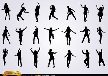 Set of dancing silhouettes - vector gratuit(e) #182237