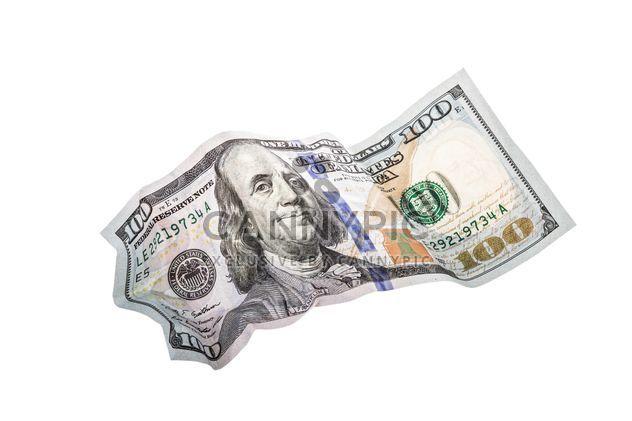 Arrugado de cientos de dólares - image #182907 gratis