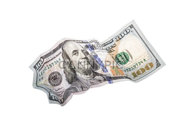 Amassado de 100 dólares - Free image #182907