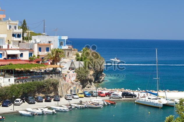 Architecture and boats in sea - Free image #183047