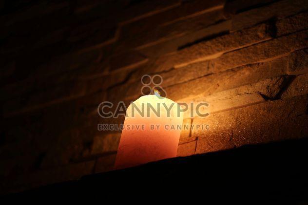 Closeup of burning candle - Free image #183057