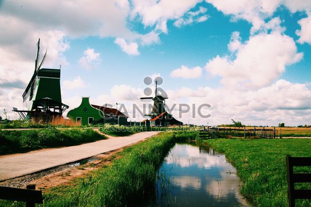 Mills under cloudy sky - Free image #183727