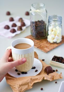 Coffee with marshmallow - Free image #185877