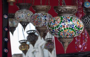 colorful handmade lamp - image #185937 gratis