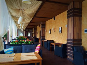 Interior of summer cafe - бесплатный image #186197
