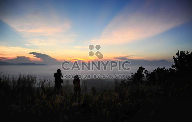 Two photographers silhouette - Free image #186467