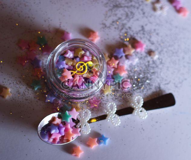 Jar com estrelas decorativas - Free image #187217