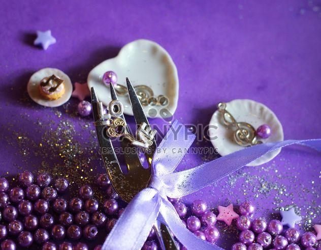 violet fork glittered - Free image #187377