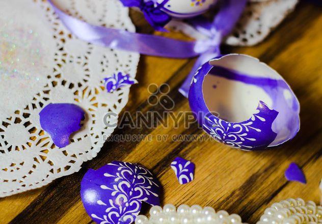 Ovos de Páscoa violeta quebrado - Free image #187467