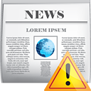 News Warning - icon gratuit #190417