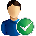 User Accept - icon gratuit(e) #190767