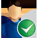 usuario acepta - icon #190767 gratis