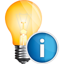 Light Bulb Info - icon gratuit #191127