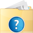 Folder Help - icon gratuit #191267