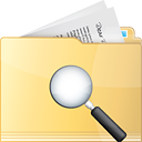 Folder Search - Free icon #191317
