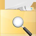 Folder Search - Free icon #191317