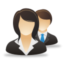 Businesswoman Man - icon gratuit #192057
