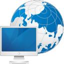 Глобус компьютер - бесплатный icon #192127