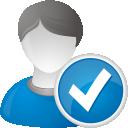 usuário aceitar - Free icon #192227