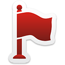 Red Flag - icon #192817 gratis