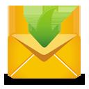 Желтая почты получают - бесплатный icon #193217