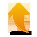 flecha naranja hacia arriba - icon #193817 gratis