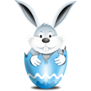 Bunny In Egg Blue - Free icon #193857