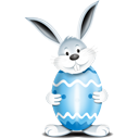 Bunny Egg Blue - icon #193877 gratis