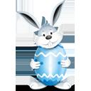 Bunny Egg Blue - Free icon #193877