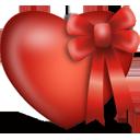 cœur présent - icon gratuit #194347
