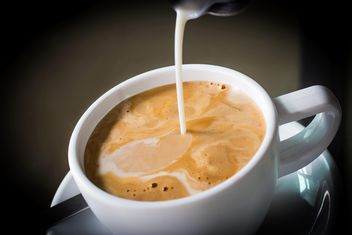 Hot coffee with milk - image #194357 gratis