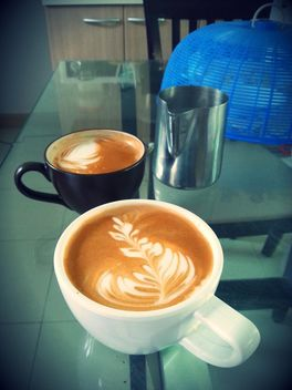 Latte coffee art - image gratuit #194367